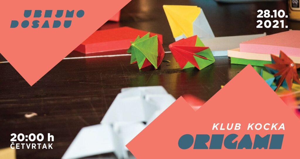 Origami radionica u klubu Kocka